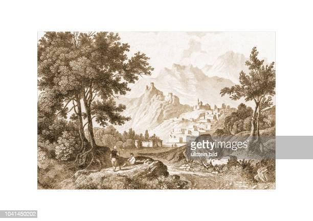 Bayazid 1821 Engraved by HAdlard after a picture by WHBartlett published in Syria The Holy Land Asia Minor c Illustrated London and Paris 1840