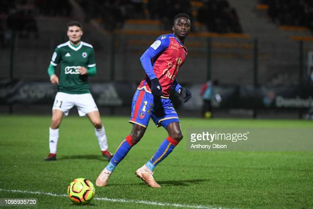 Baye Mayoro Ndoye of Ajaccio during the Ligue 2 match between Red Star and Gazelec Ajaccio at Stade Pierre Brisson on February 8 2019 in Beauvais...