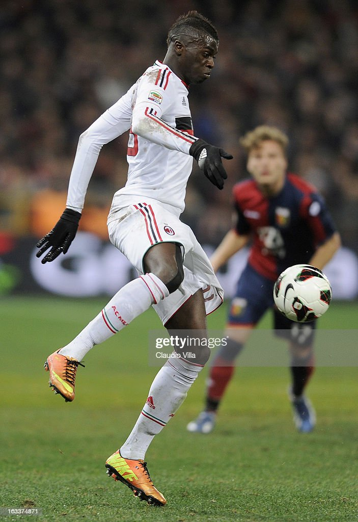 M'Baye Niang of AC Milan in action during the Serie A match between Genoa CFC and AC Milan at Stadio Luigi Ferraris on March 8, 2013 in Genoa, Italy.