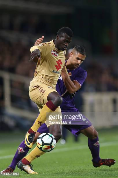 Baye Niang of Torino Fc in action during the Serie A match between ACF Fiorentina and Torino FC at Stadio Artemio Franchi on October 25 2017 in...