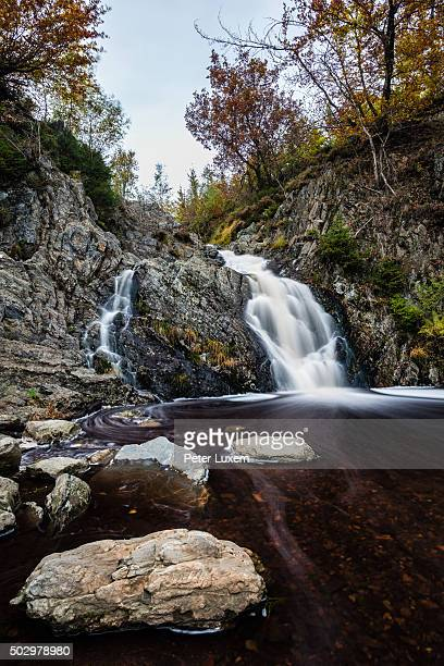 bayehon waterfall - ardennes department france stock photos and pictures