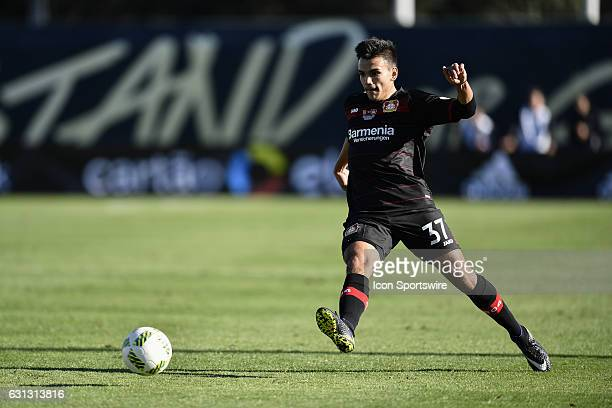 Bayer 04 Leverkusen midfielder Atakan Akkaynak plays the ball into the box during the second half of the Florida Cup between Estudiantes and Bayer 04...