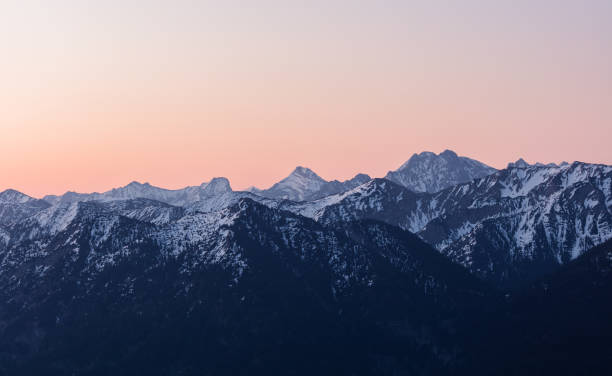 bayerische alpen - horizontal stock pictures, royalty-free photos & images