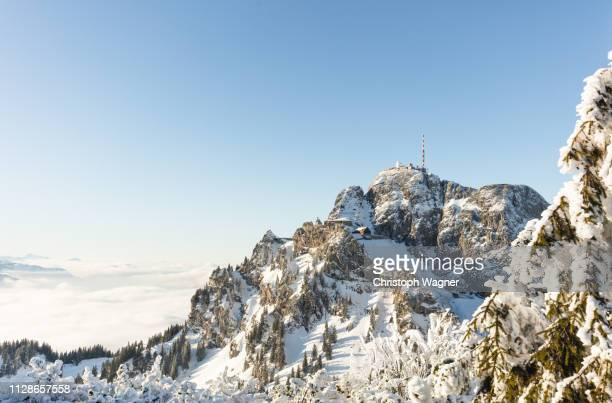 bayerische alpen - wendelstein - tourismus stock pictures, royalty-free photos & images