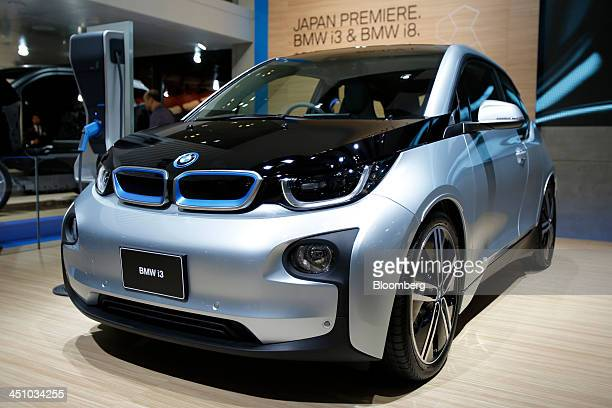 A Bayerische Motoren Werke AG i3 electric vehicle sits on display at the 43rd Tokyo Motor Show 2013 in Tokyo Japan on Thursday Nov 21 2013 The...