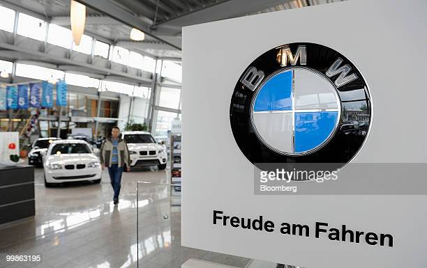 A Bayerische Motoren Werke logo is seen at a car dealership in Rosenheim Germany on Tuesday May 18 2010 Bayerische Motoren Werke AG the world's...