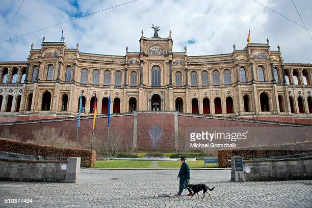 Bayerischer Landtag or Parliament of German state of Bavaria on February 15 2016 in Munich Germany