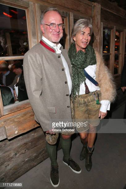 Bayern Boss KarlHeinz Rummenigge and his wife Martina Rummenigge during the Oktoberfest 2019 at Kaeferschaenke beer tent / Theresienwiese on...