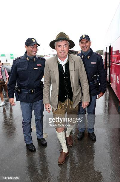 Bayern coach Carlo Ancelotti attend the 'FC Bayern Wies'n' during the Oktoberfest at Kaeferschaenke / Theresienwiese on October 2 2016 in Munich...