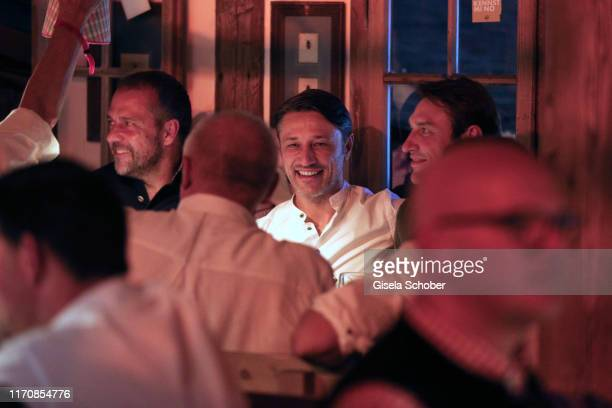 Bayern Cotrainer Hansi Flick trainer Niko Kovac and his brother Robert Kovacduring the Oktoberfest 2019 at Theresienwiese on September 24 2019 in...