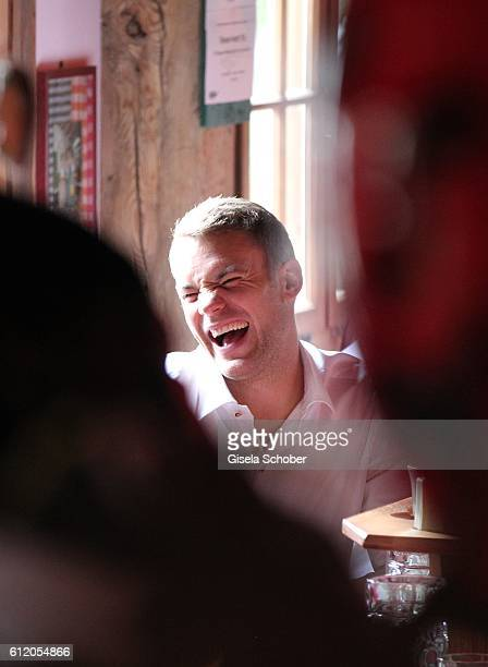 Bayern goal keeper Manuel Neuer attends the 'FC Bayern Wies'n' during the Oktoberfest at Kaeferschaenke / Theresienwiese on October 2 2016 in Munich...