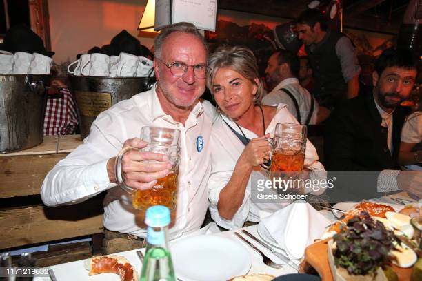 Bayern KarlHeinz Rummenigge and his wife Martina Rummenigge during the Oktoberfest 2019 at Kaeferschaenke beer tent / Theresienwiese on September 25...