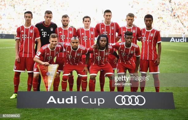 Bayern lineup prior to the Audi Cup 2017 match between SSC Napoli v FC Bayern Muenchen at Allianz Arena on August 2 2017 in Munich Germany