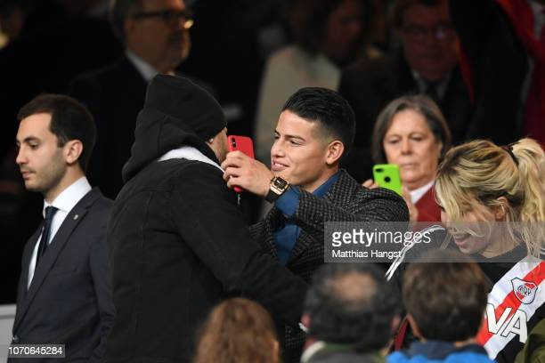 Bayern Muenchen and Colombia player James Rodriguez is seen prior to the second leg of the final match of Copa CONMEBOL Libertadores 2018 between...