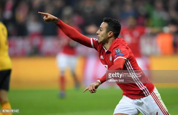 Bayern Muenchen - Arsenal London Torjubel: Thiago Alcantara