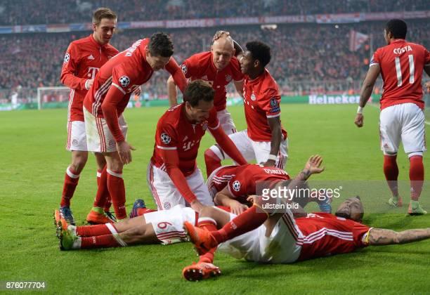Bayern Muenchen - Arsenal London Torjubel: Torjubel um Thiago Alcantara