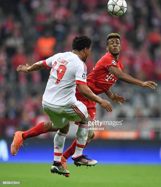 FUSSBALL FC Bayern Muenchen Benfica Lissabon Eliseu gegen Kingsley Coman