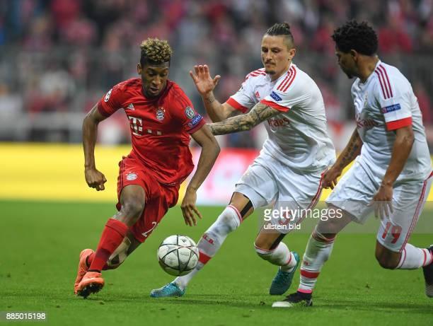 FUSSBALL FC Bayern Muenchen Benfica Lissabon Kingsley Coman gegen Ljubomir Fejsa und Eliseu