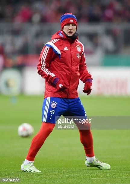 FUSSBALL DFB FC Bayern Muenchen Eintracht Braunschweig Bastian Schweinsteiger