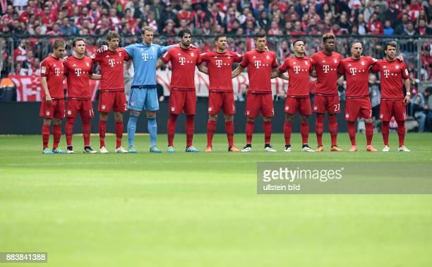 FUSSBALL 1 BUNDESLIGA SAISON FC Bayern Muenchen Eintracht Frankfurt FC Bayern Muenchen Team Philipp Lahm Mario Goetze Thomas Mueller Torwart Manuel...