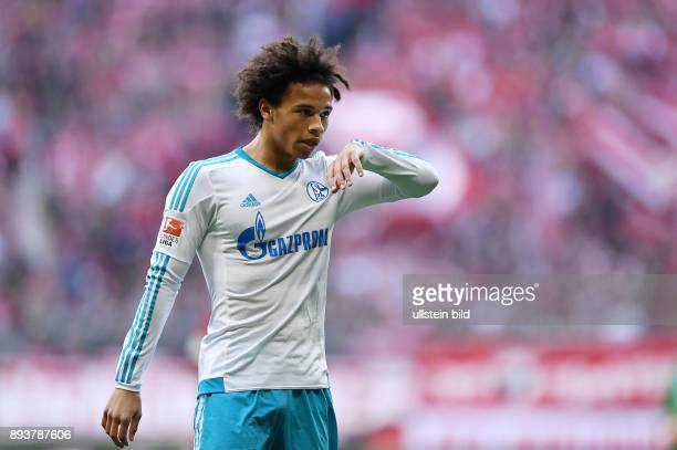 FUSSBALL 1 BUNDESLIGA SAISON FC Bayern Muenchen FC Schalke 04 Leroy Sane