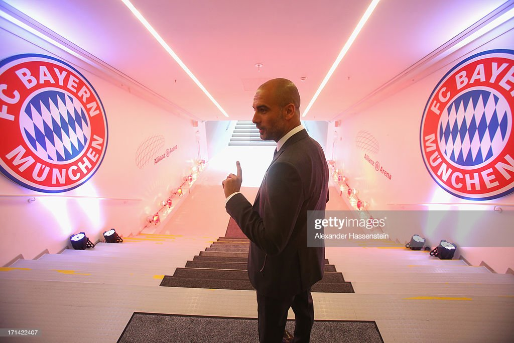 FC Bayern Muenchen Presents New Head Coach Josep Guardiola : News Photo
