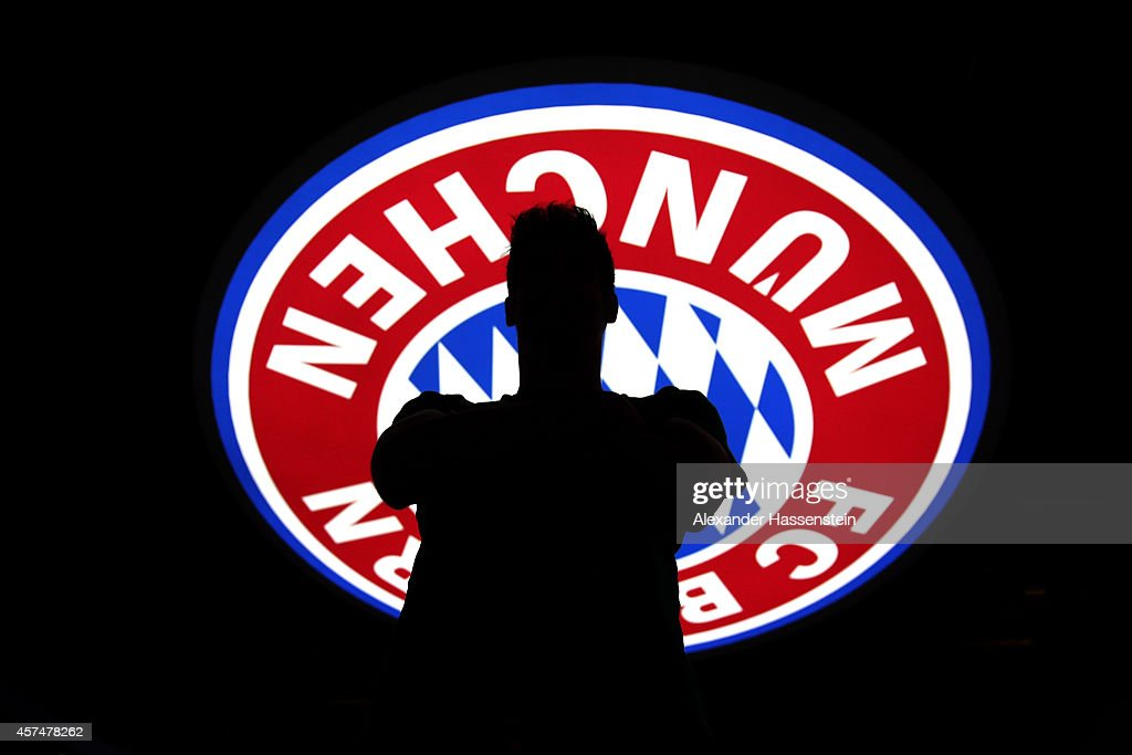 FC Bayern Muenchen player Javier Martinez visits the FC Bayern Erlebniswelt museum at Allianz Arena on October 19, 2014 in Munich, Germany.