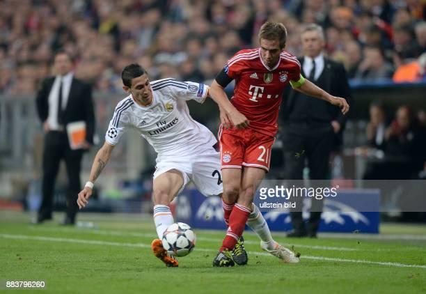 FUSSBALL CHAMPIONS FC Bayern Muenchen Real Madrid Angel Di Maria gegen Philipp Lahm