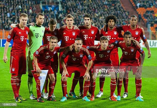 Bayern Muenchen team group taken prior to the UEFA Champions League group stage match between FC Bayern Muenchen and FC BATE Borisov at the Dinamo...