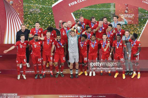 Bayern Muenchen winners of the FIFA Club World Cup Qatar Final on February 11, 2021 in Doha, Qatar.