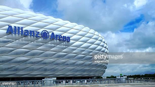 fc bayern munchen stadium - bayern munich football stock pictures, royalty-free photos & images
