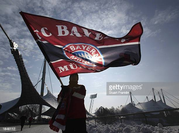 Bayern Munich fan during the German Bundesliga match between 1860 Munich and FC Bayern Munich held on February 15 2003 at The Olympic Stadium in...