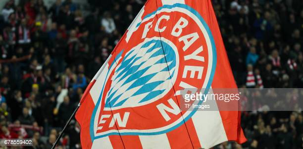 Bayern Munich flag is seen during the German Cup semi final soccer match between FC Bayern Munich and Borussia Dortmund at the Allianz Arena on April...