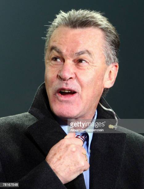 Bayern Munich head coach Ottmar Hitzfeld smiles after the UEFA Cup Group F match between SC Braga and FC Bayern Munich at the Estadio AXA on November...