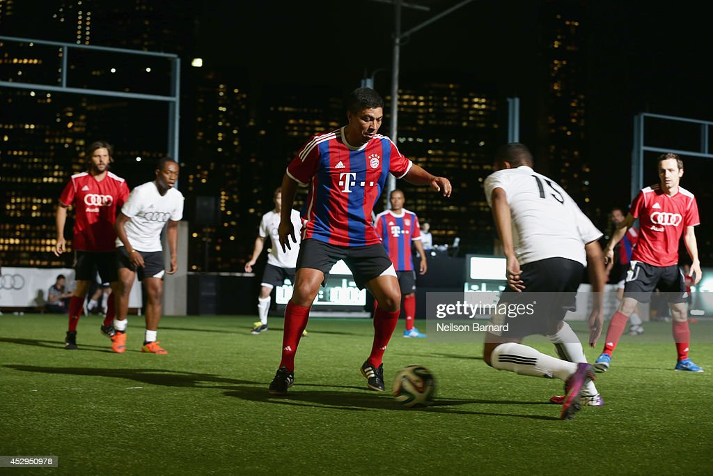 FC Bayern Munich legend Giovane Elber at the Audi Soccer Pick-Up Game at Pier 2 at Brooklyn Bridge Park on July 30, 2014 in Brooklyn borough of New York City.