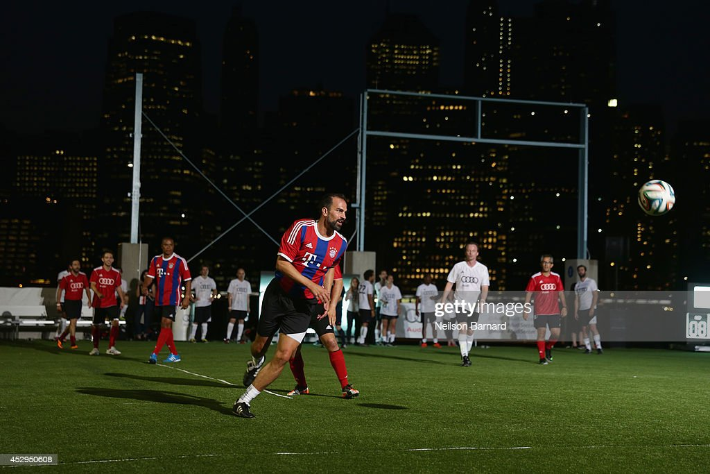 Bayern Munich legend Markus Babbel at the Audi Soccer Pick-Up Game at Pier 2 at Brooklyn Bridge Park on July 30, 2014 in Brooklyn borough of New York City.