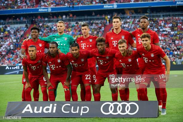 Bayern Munich line up David Alaba Manuel Neuer Robert Lewandowski Niklas Sule Jerome Boateng Thiago Alcantara Serge Gnabry Kingsley Coman Joshua...