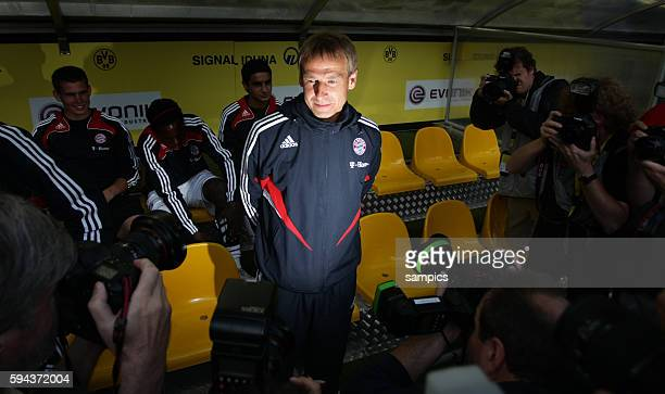 Bayern Munich manager coach trainer Juergen Klinsmann during the German DFB Supercup between Cup winners Borussia Dortmund and Bundesliga Champions...