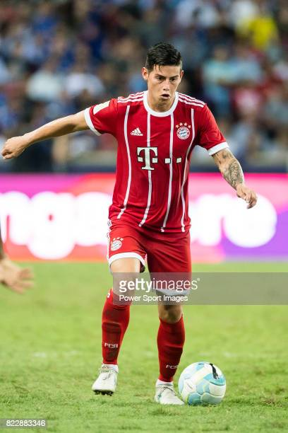 Bayern Munich Midfielder James Rodriguez in action during the International Champions Cup match between Chelsea FC and FC Bayern Munich at National...