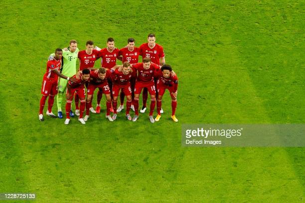 FC Bayern Munich Teamphoto prior to the UEFA Super Cup match between FC Bayern Munich and FC Sevilla at Puskas Arena on September 24 2020 in Budapest...