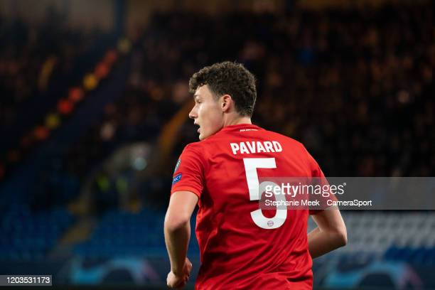 Bayern Munich's Benjamin Pavard during the UEFA Champions League round of 16 first leg match between Chelsea FC and FC Bayern Muenchen at Stamford...