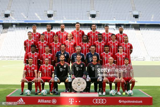 Bayern Munich's Brazilian defender Rafinha Bayern Munich's French midfielder Franck Ribery Bayern Munich's goalkeeper Sven Ulreich Bayern Munich's...
