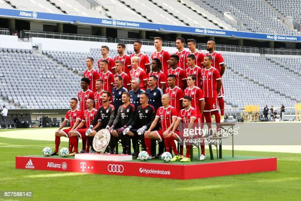 Bayern Munich's Brazilian defender Rafinha Bayern Munich's French midfielder Franck Ribery Bayern Munich's goalkeeper Sven Ulreich Bayern Munich's...