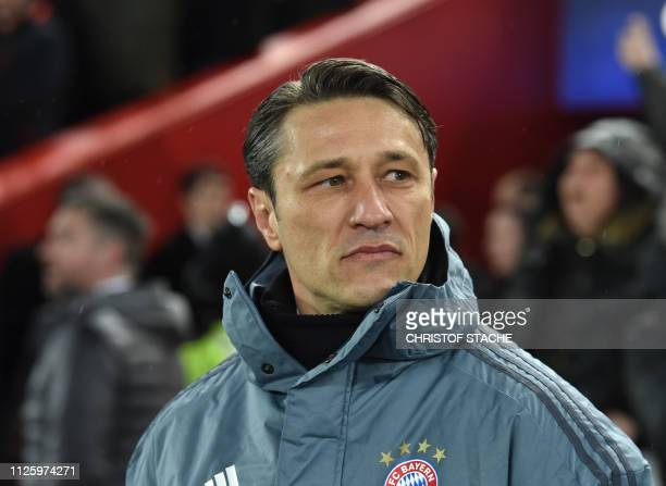 Bayern Munich's Croatian head coach Niko Kovac waits prior the UEFA Champions League round of 16 first leg football match between Liverpool and...
