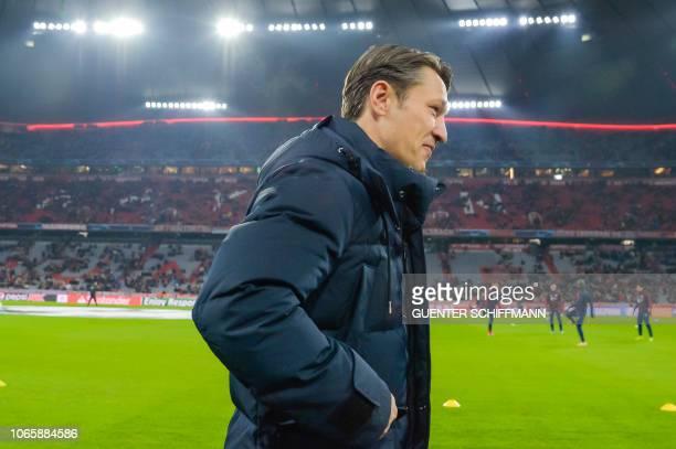 Bayern Munich's Croatian headcoach Niko Kovac arrives prior to the UEFA Champions League Group E football match Bayern Munich vs Benfica Lisbon in...