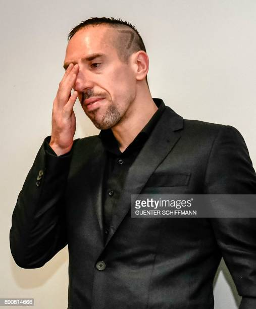 Bayern Munich's Franck Ribery arrives at court for a case filed by his former agent Bruno Heiderscheid who is claiming 35 million euros from the...