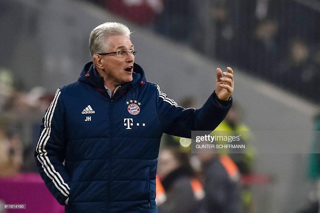 Bayern Münchens Trainer Jupp Heynckes
