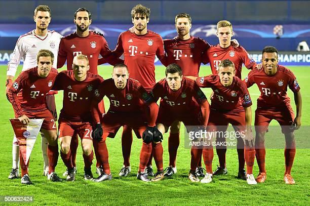Bayern Munich's goalkeeper Sven Ulreich Moroccan striker Medhi Benatia Spanish midfielder Javier Martinez Spanish midfielder Xabi Alonso midfielder...