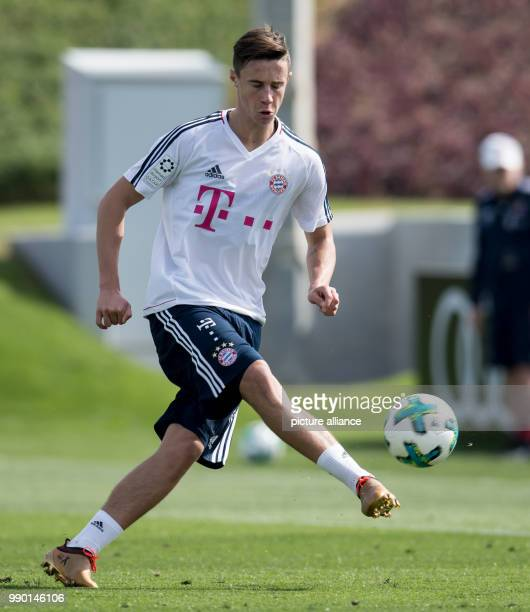FC Bayern Munich's Marco Friedl participates in the training session in Doha Qatar 05 January 2017 The FC Bayern Munich squad is preparing itself...