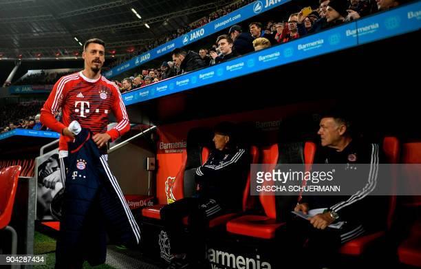 Bayern Munich's new forward Sandro Wagner arrives for the German First division Bundesliga football match Bayer Leverkusen vs FC Bayern Munich on...